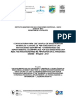 Términos Convocatoria Departamental Ondas - TIC 2014 - 2015