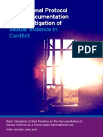 International Protocol on the documentation and investigation of sexual violence in conflict