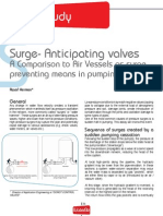 Surge- Anticipating valves A Comparison to Air Vessels as surgepreventing means in pumping systems