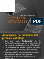 CREANDO ACTIVIDADES