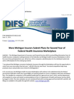 More Michigan Insurers Submit Plans for Second Year of Federal Health Insurance Marketplace