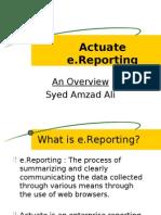 Actuate e reporting