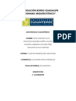 Taller de Arquitectura Sustentable. Investigación Bordo Guadalupe Sintetizada.