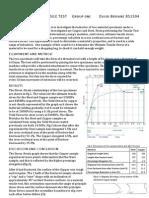 Tensile Test Lab Report