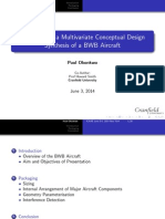 Packaging in a Multivariate Conceptual Design Synthesis of the BWB Aircraf
