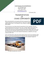 Transportation of Crane Components