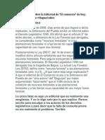 "Ivan La Negra Sobre Editorial de ""El comercio"""