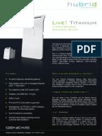 Datasheet Live Titanium 20 Series