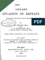 Caesar's Invasion of Britain Latin BW
