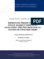 IMPROVING PREDICTION OF STOCK MARKET INDICES BY ANALYZING THE PSYCHOLOGICAL STATES OF TWITTER USERS