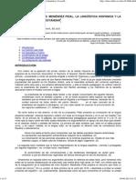 Lenguas Imaginadas_ Menéndez Pidal, La Lingüística Hispánica y La Configuración Del Estándar