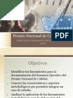 Premio Nacional de Calidad - Resumen Ejecutivo