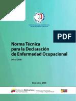 Norma Tecnica de Declaracion de Enfermedades Profesionales