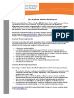 IIBA Academic Membership Info-Sheet 2013