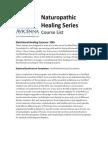 Naturopathic Healing Series Course List