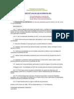 Decreto No 3.189, De 4 de Outubro de 1999