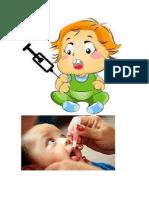 Aplicación de La Vacuna Oral Contra La Poliomielitis Tipo Sabin a La