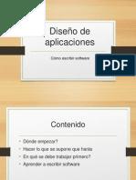 1.0 Diseño de Aplicaciones