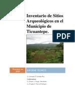 Inventario de Sitios Arqueológicos Ticuantepe
