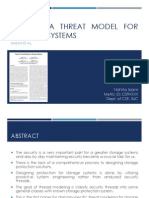 Toward a Threat Model for Storage Systems