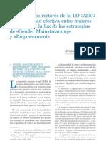 Los principios rectores de la LO 3/2007 sobre igualdad efectiva entre mujeres y hombres a la luz de las estrategias de «Gender Mainstreaming» y «Empowerment»