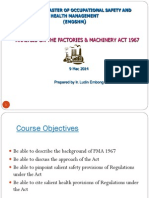 OSH Legislation Part 2- 9 Mac 2014