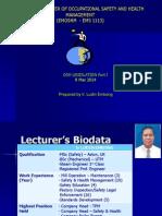 OSH Legislation Part 1 8 Mac 2014