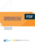 Supporting Consumer Access to Specialty Medications Through Value-Based Insurance Design
