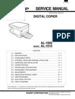 Sharp AL1000 Service Manual