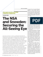 The NSA and Snowden