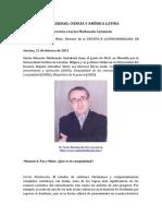 Complejidad, Ciencia y América Latina. Entrevista a Carlos Maldonado Castañeda. Manuel a. Paz y Miño