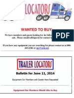 Wanted to Buy Bulletin - June 11, 2014