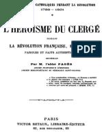 L_héroïsme Du Clergé Français Pendant La Révolution Française 1789-1801