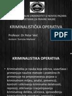 Kriminalisticka Operativa pojam