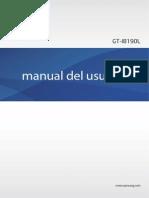 Manual s3 Mini Gt-i8190l