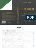 Interogatoriul - Psihologia Confruntării În Procesul Judiciar - T.butoi - 2005