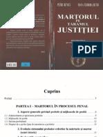 Martorul Pe Tărâmul Justiţei - Perspectiva Procesual Penală Şi Psihologică - P.buneci,I.T.butoi - 2004