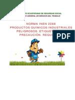 INEN2288Productos Quimicos Industriales Etiquetado