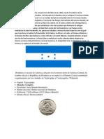 La Bandera de Honduras Fue Creada El 16 de Febrero de 1866