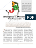 Intelligence Vs. Decisionmaker