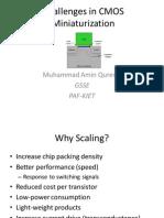 Challenges in CMOS Miniaturization
