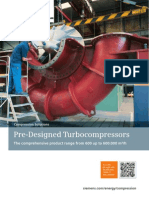 Pre-Designed Turbocompressors Blowers