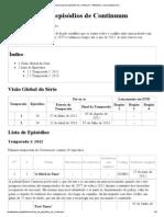 Anexo_Lista de Episódios de Continuum – Wikipédia, A Enciclopédia Livre