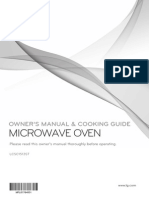 LG electric oven manual