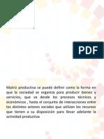 Matriz Productiva Ecuador