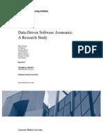 Data-Driven Software Assurance