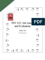 Job Analysis Notes