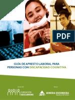 GUÍA DE APRESTO LABORAL PARA  PERSONAS CON DISCAPACIDAD COGNITIVA