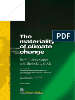 The Materiality of Climate Change How Finance Copes With the Ticking Clock UNEPfi 2010 Full
