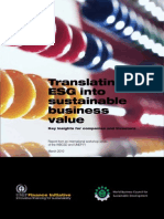 Translating ESG Into Sustainable Business Value Key Insights for Companies and Investors UNEPfi 2010